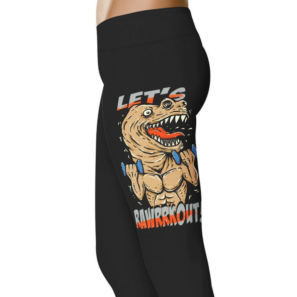 YouStatment Fitness and Wit RawRRKOut - Fitness and Wit Leggings