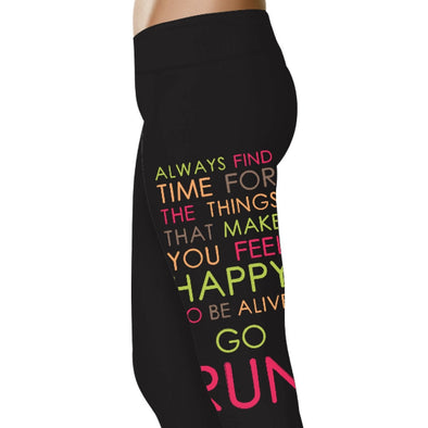 YouStatment Running Always Find Time For Things That Matter - Running Leggings