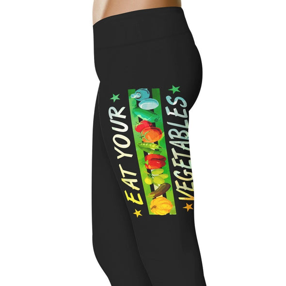 YouStatment Vegan Eat Your Vegetables - Vegan Leggings