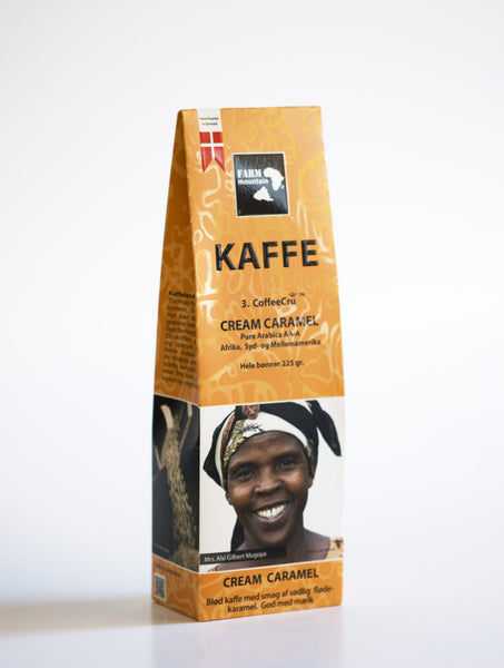 CREAM CARAMEL kaffe, 3.coffeeCru fra FarmMountain. 225 g.