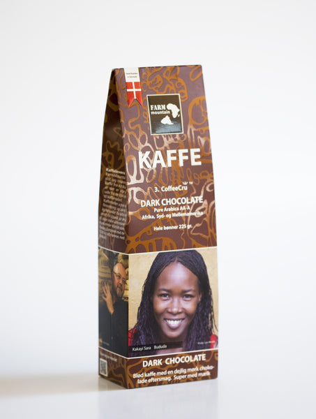 DARK CHOCOLATE ,3. CoffeeCru fra FarmMountain 225 g.