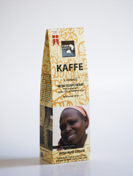 IRISH RUM CREAM kaffe, 3.Coffecru, FarmMountain 225 g.