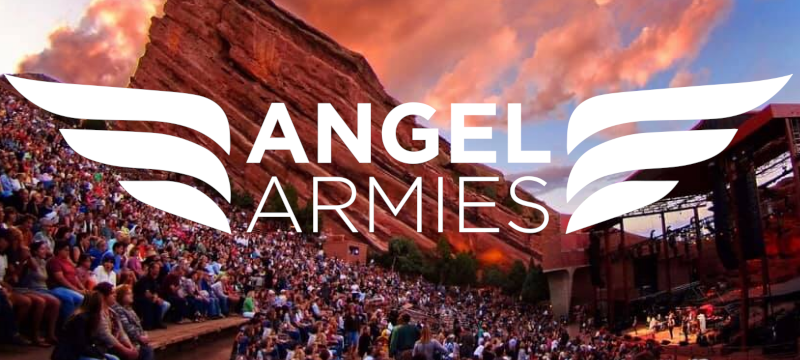 Chris Tomlin Worship Concert at Red Rocks amphitheater Denver Colorado - Angel Armies