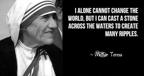 Mother Teresa - I alone cannot change the world