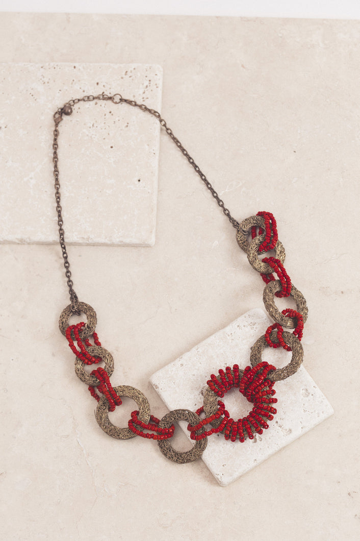 Artisanal in Roseate Haze Necklace