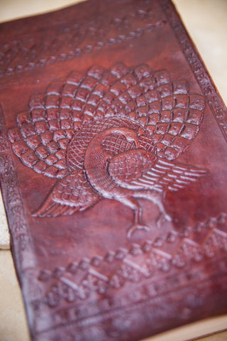 Peacock Leather Journal [ex-large]