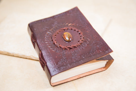 Tiger Eye Leather Journal [mid-sized]