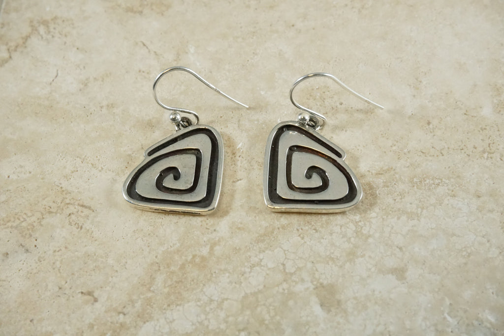 The Skipping Stone Logo Sterling Silver Earrings