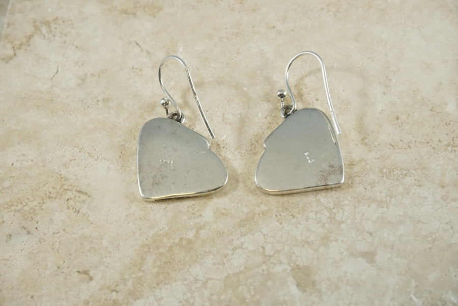 The Skipping Stone Make A Ripple Earrings Sterling Silver Back