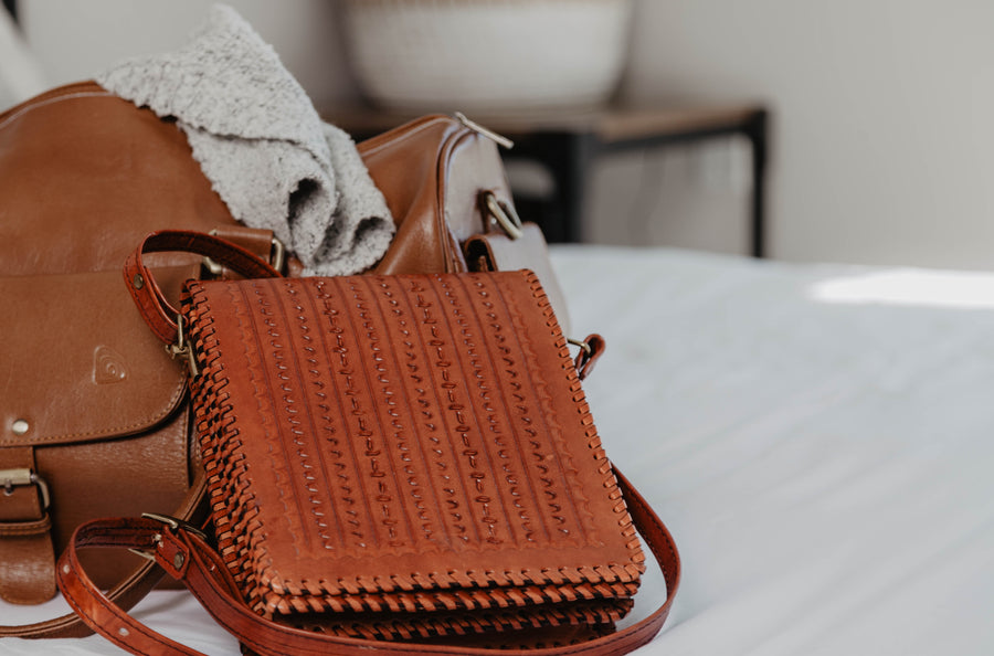 Wave Leather Crossbody Bag