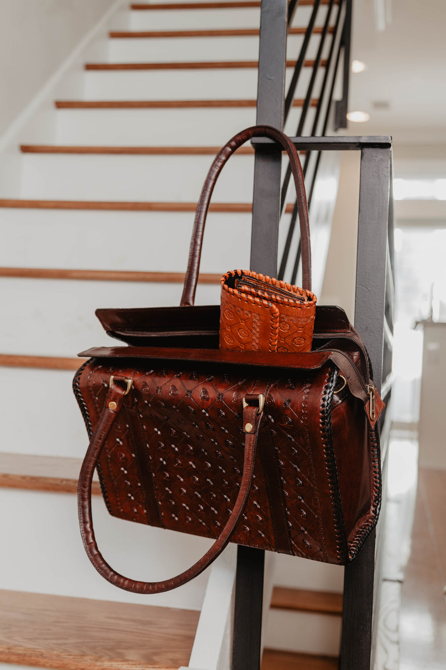 Ripple Leather Shopper Bag