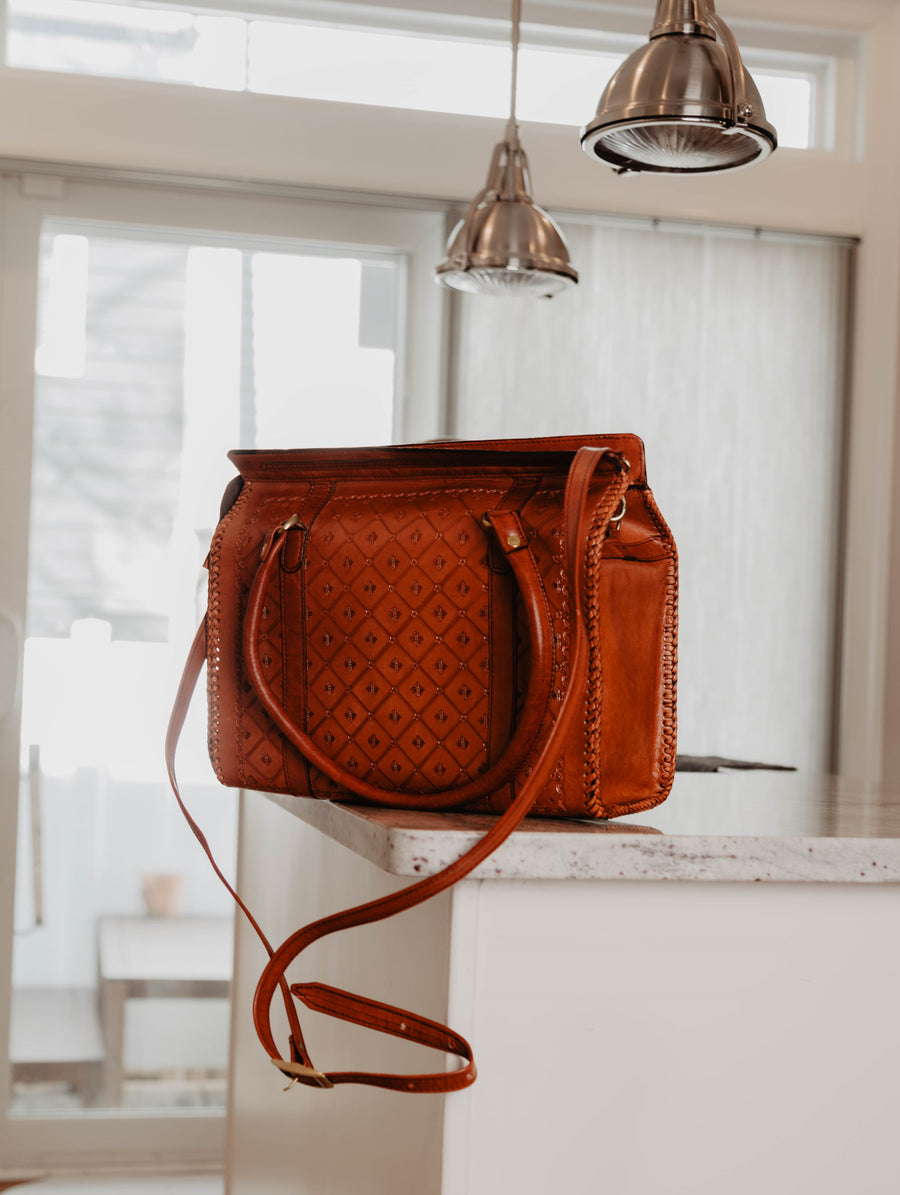 Cross Sunrise Leather Shopper Bag