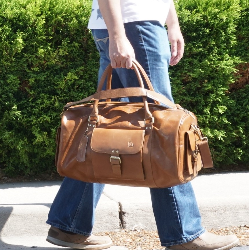 Weekender Leather Duffel Bag 19