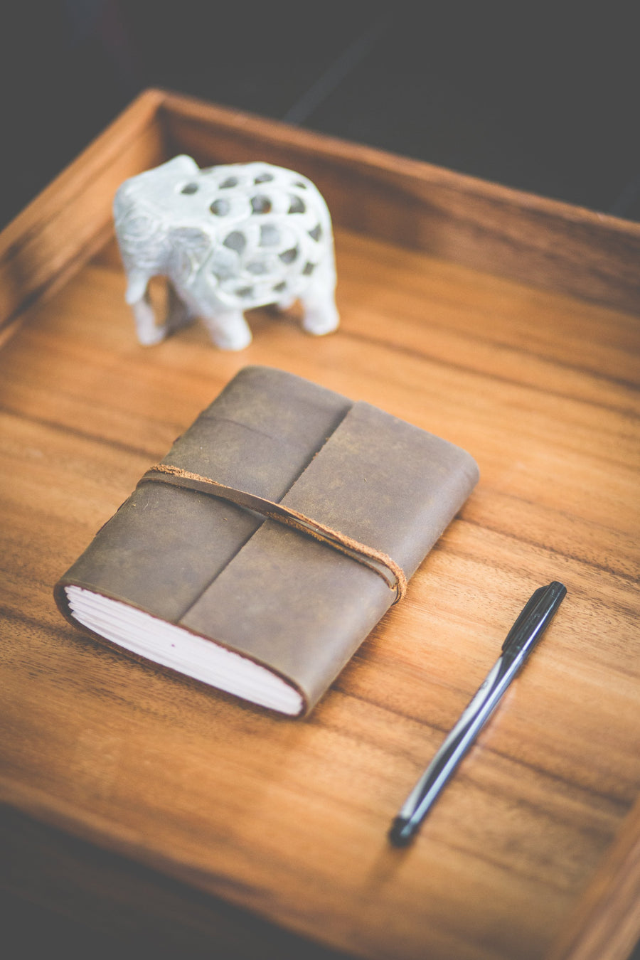 Classic Leather Journal with leather Tie