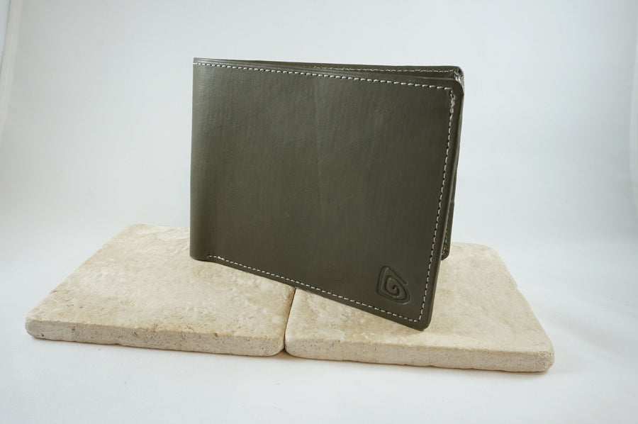 Signature Men's Wallet in Dark Green