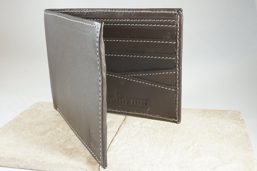 Signature Men's Wallet in Dark Brown