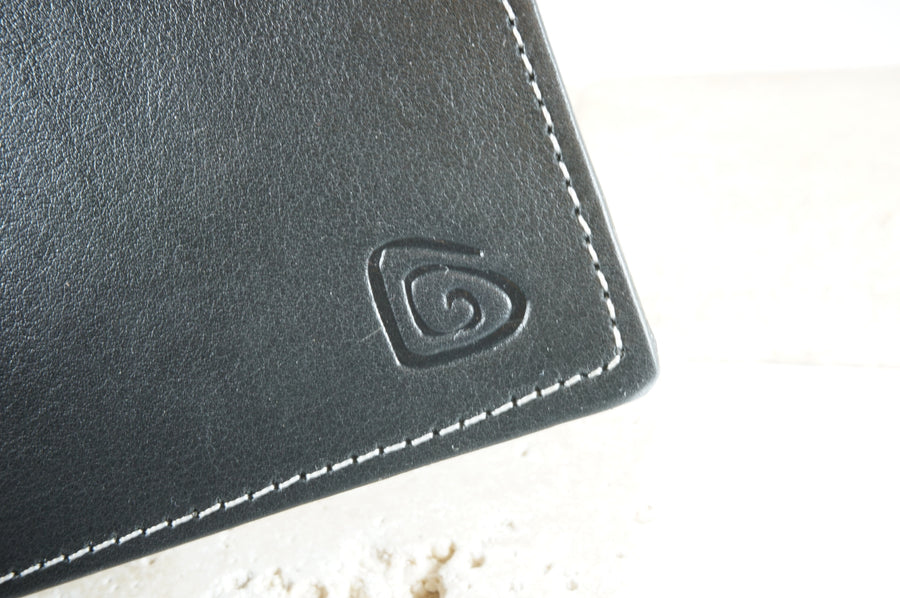 Signature Men's Wallet in Charcoal-Black
