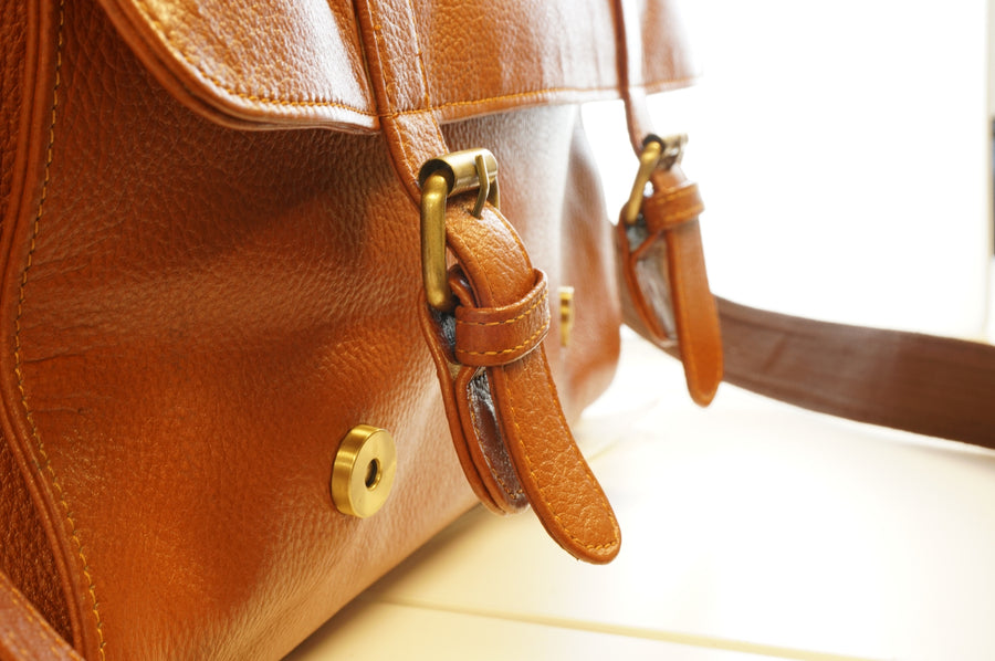 Leather Satchel Messenger Bag 17