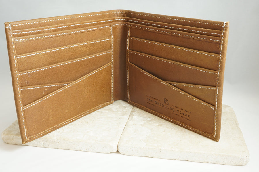 Signature Men's Wallet in Light Brown