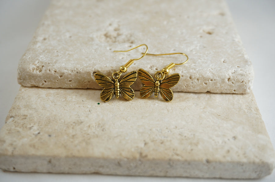 Golden Butterfly Earrings