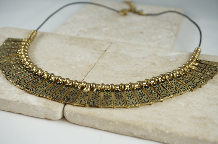 Golden Cut-a-dash Necklace
