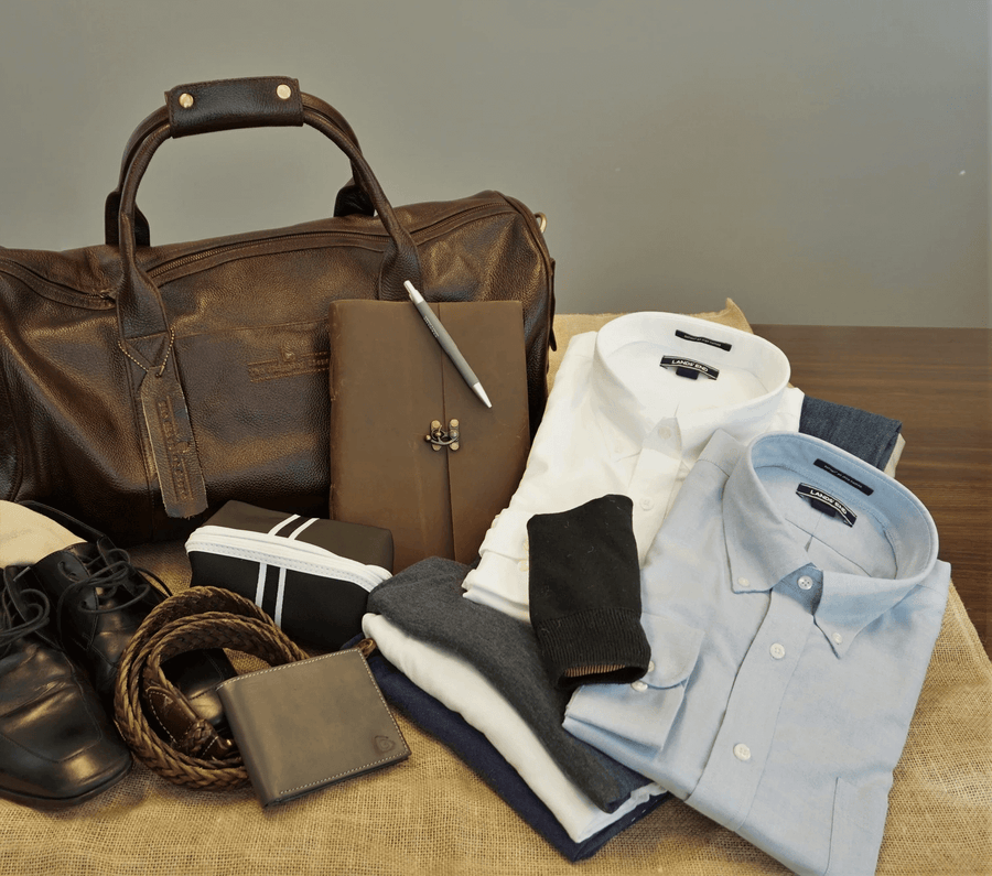 Travel Leather Duffel Bag 22