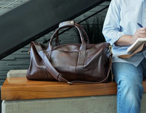 Travel Leather Duffel Bag 22""