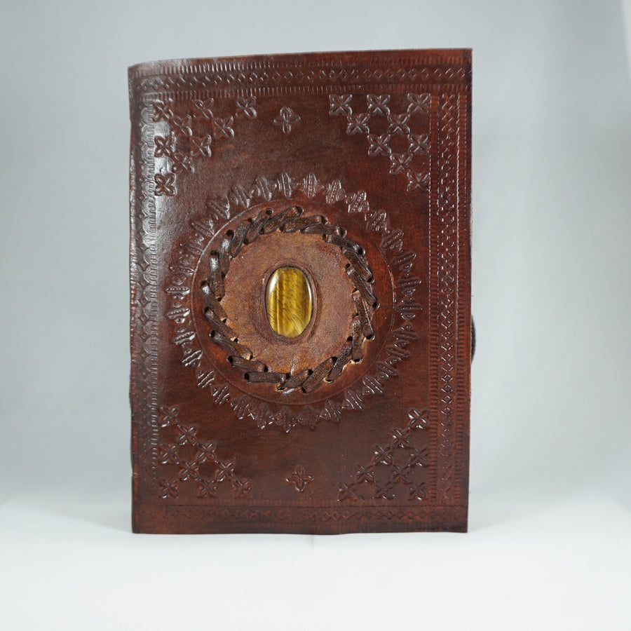 Tiger Eye Leather Journal