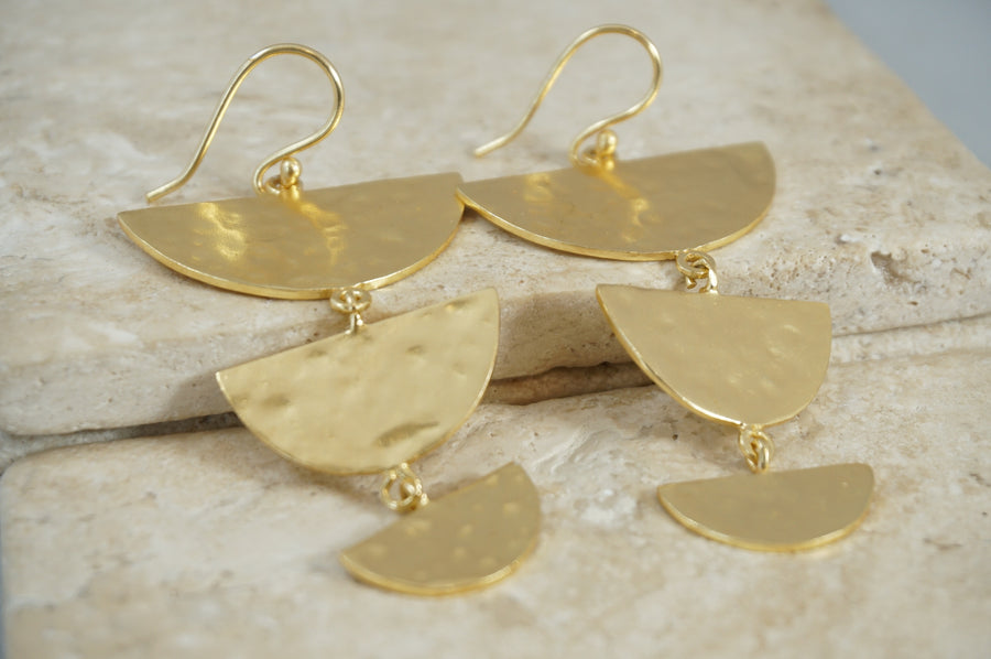 Oxbow Moon Drop Earrings