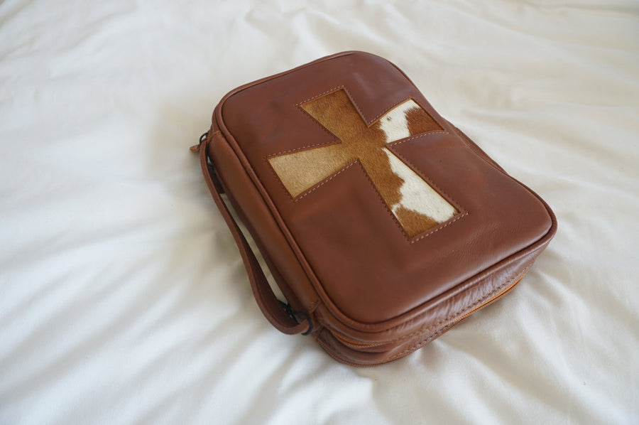 Leather Bible Cases with Cross