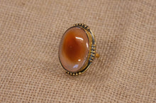 Load image into Gallery viewer, Rustic Amber Stone Ring