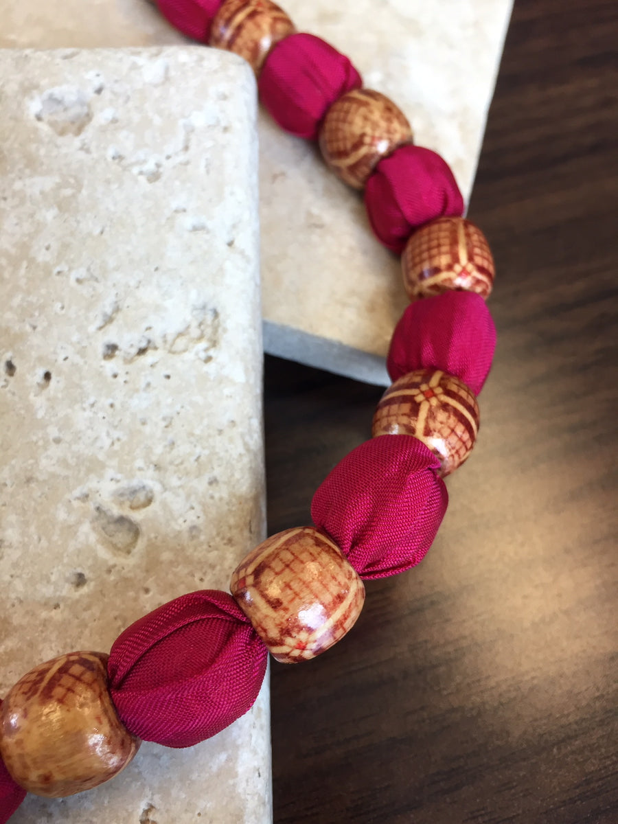 Jubilee Sari Bead Necklace