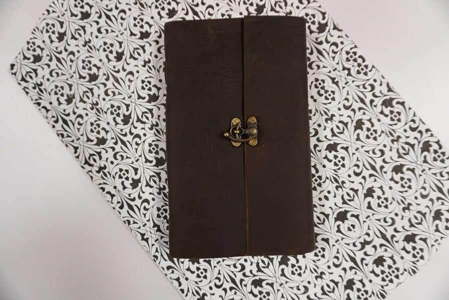 Single Handmade Leather Journal with Latch