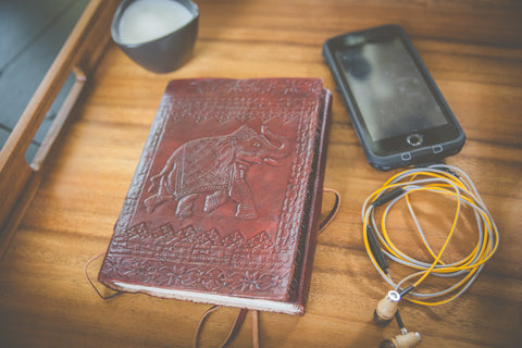 Elephant Leather Journal [mid-sized]