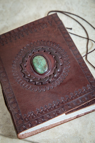 Turquoise Leather Journal