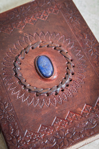 Blue Onyx Leather Journal [mid-sized]