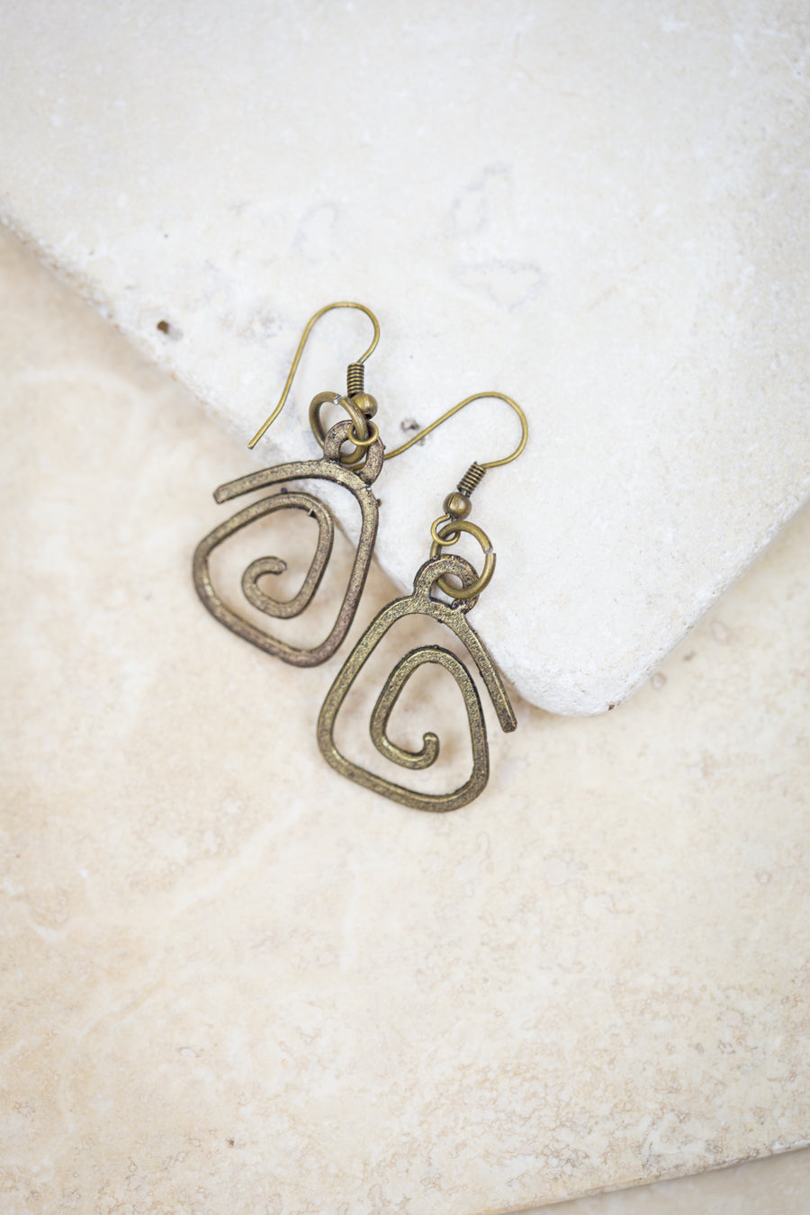 Vintage Style Ripple Earrings