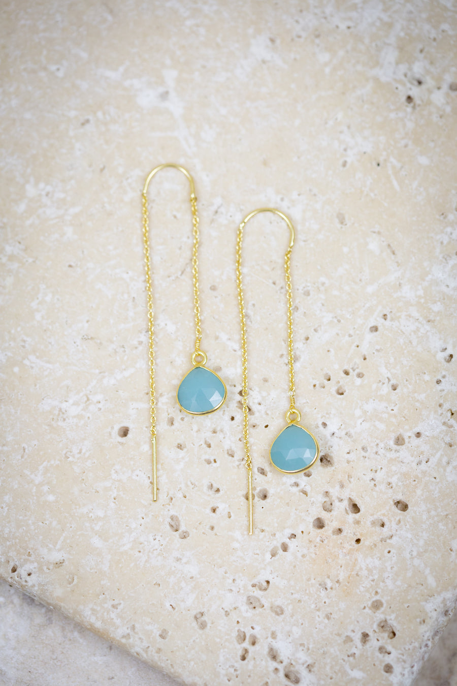 Aqua escape earrings for woman