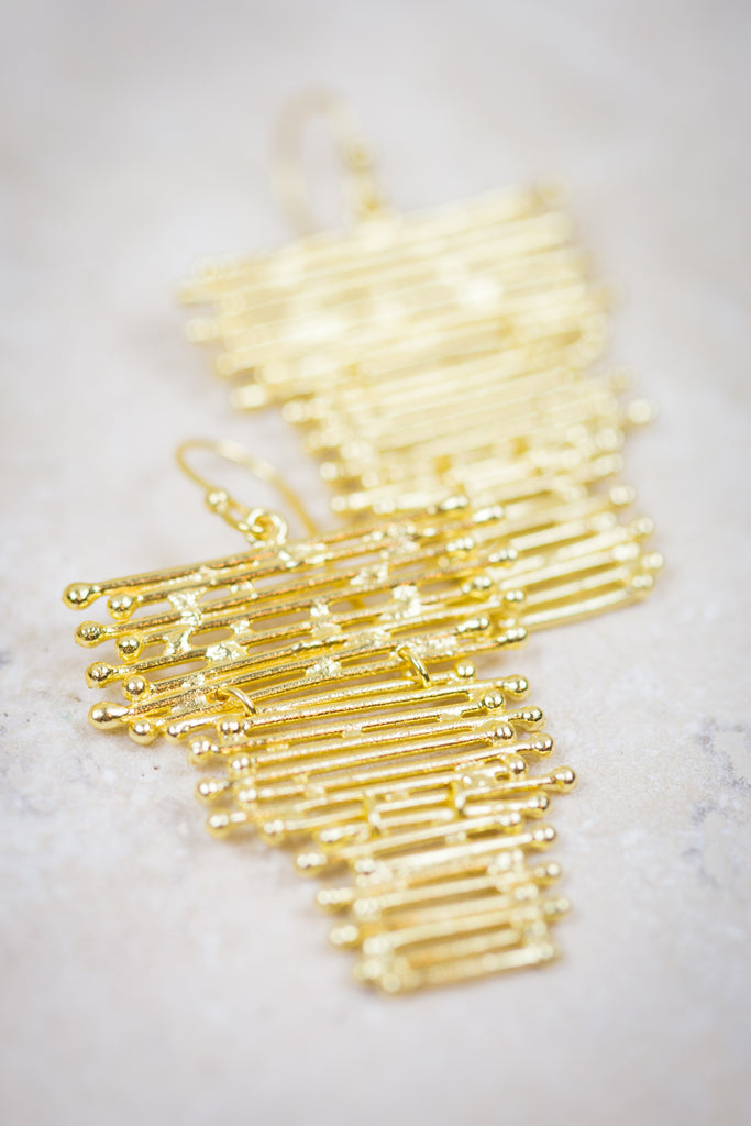 Golden Waterfall Earrings
