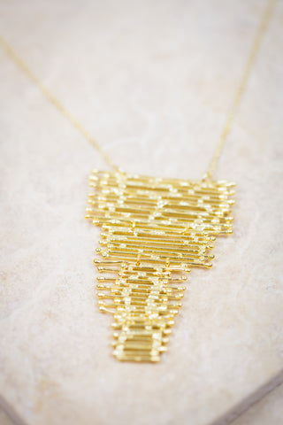 Gold Waterfall Necklace