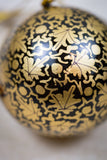 Handmade and hand painted decorative ornament black gold