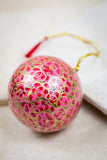 Handmade and hand painted decorative ornament pink