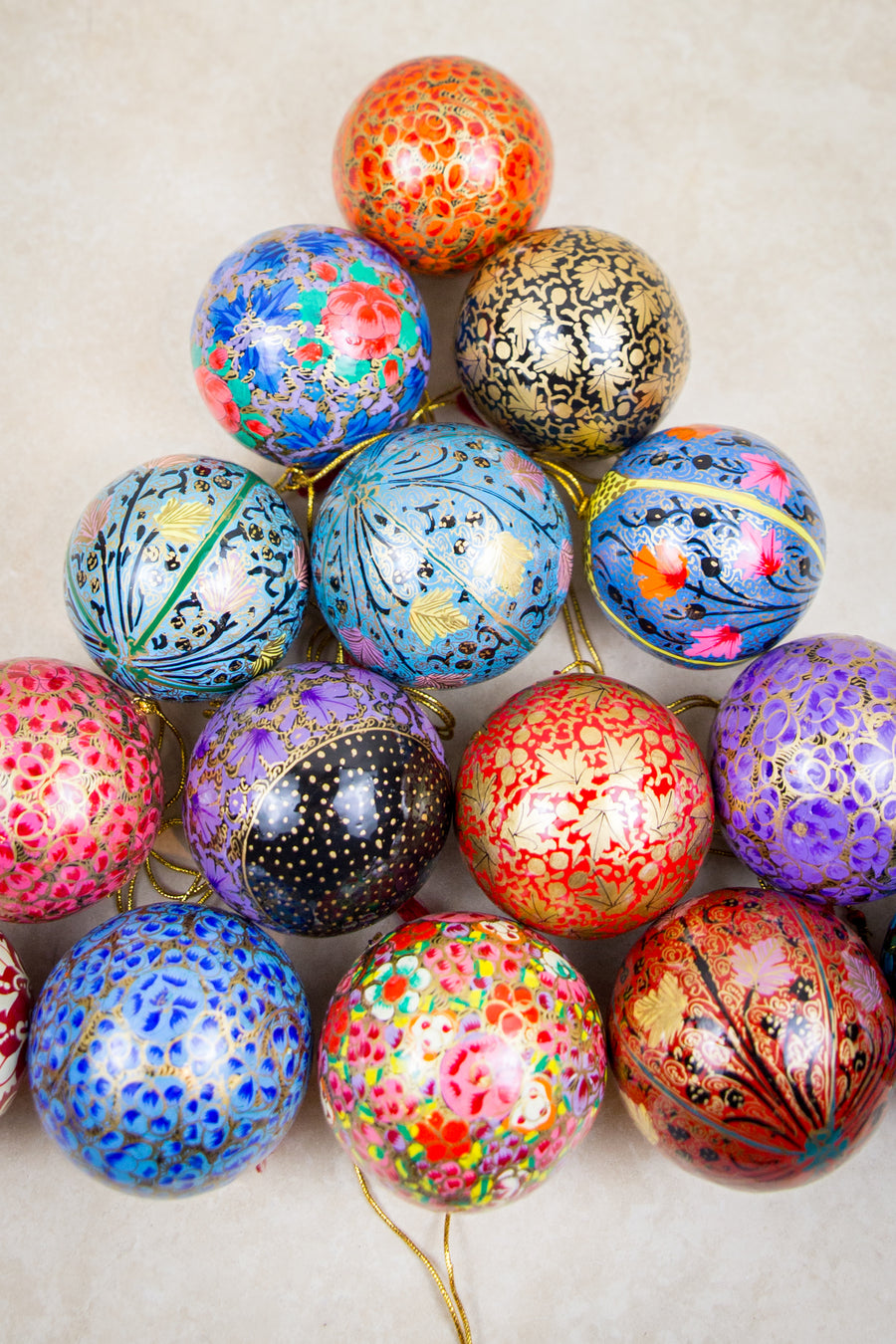 Handmade and hand painted decorative ornaments
