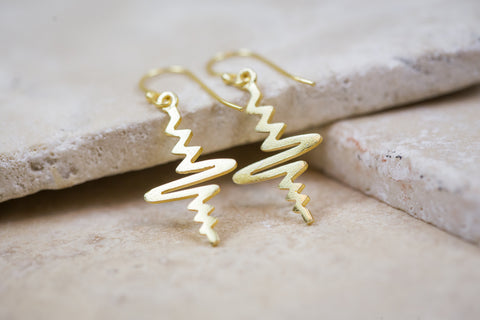 Golden Heartbeat Earring
