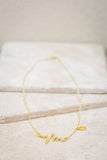 Golden Heartbeat Necklace