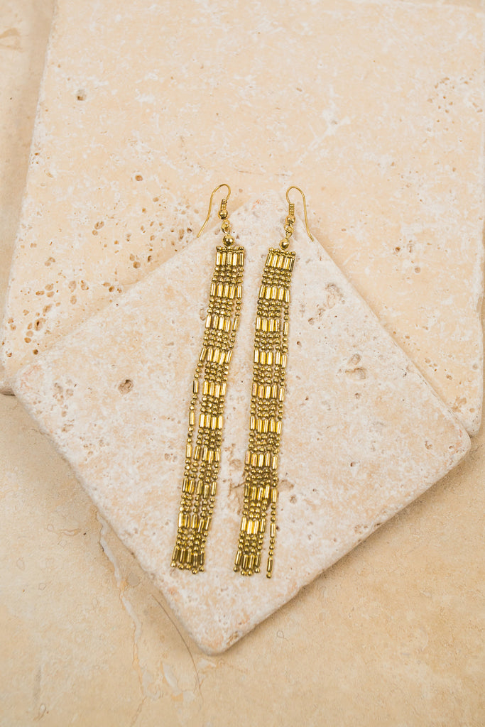 Goldtone Tassel Earrings