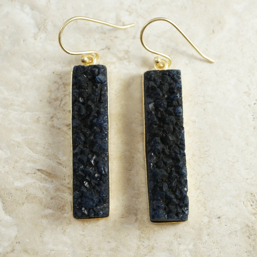 Azure Blue Slab Earrings