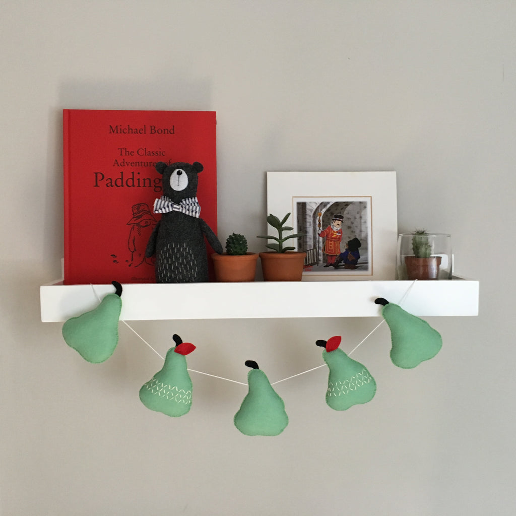 'Pear' Felt Wall Garland - Collaboration with Heartfelt and Handmade