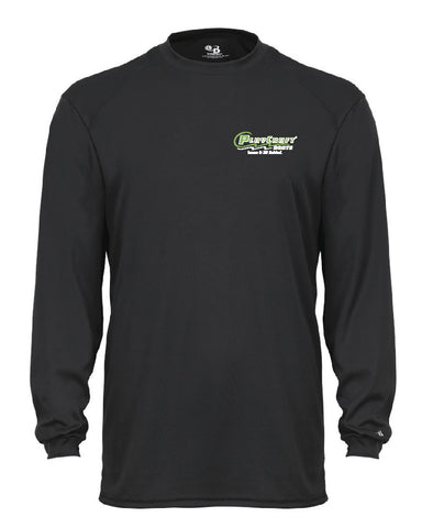 Black Long Sleeve Moisture Wicking T-Shirt - PC CW26B