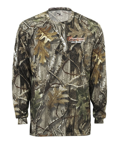 Camo Long Sleeve Moisture Wicking Shirt - PCCW26F